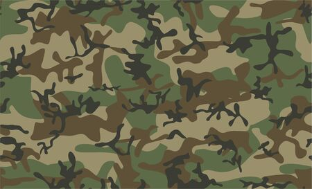 Classic camouflage seamless pattern. Green brown black olive colors forest texture. Abstract vector seamless como. Vector abstract illustration. amouflage texture in the forest