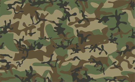 Patrón transparente de camuflaje clásico. Textura de bosque de colores verde oliva negro marrón. Como vector abstracto sin fisuras. Ilustración abstracta de vector. textura de amuflaje en el bosque
