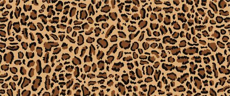 Leopard pattern seamless design, vector illustration, trendy background. Animal design. Brown, orange, yellow 向量圖像