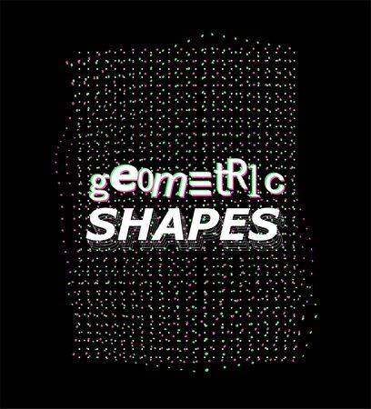 Synthwave digital shape, vaporwave, retrowave, cyberpunk ai quantum computer structure. Vector digital design element. Glitch synth. VR retrofuturism shape. Vector