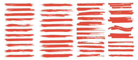Brushstrokes with ink splashes. Vector brushes, black inked splatter dirt stain splattered spray splash with drops blots. Isolated grunge textures. Vector collection brush stroke 向量圖像