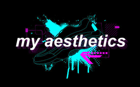 My aesthetics slogan with trendy print for t-shirt design and merch. Choice and lifestyle concept. Print for Ð¡lothing trendy design. Typography lettering slogan and artwork for t-shirt. Vector