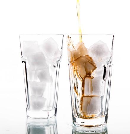 soft drinks: soft drinks. Glass of cola