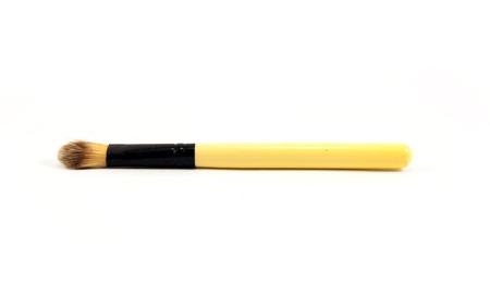blusher: make up brush powder blusher isolated on white background