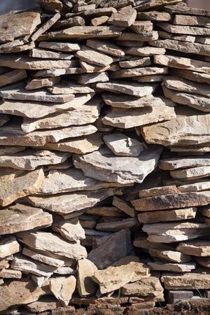 stonework: stonework of decorative stone Stock Photo