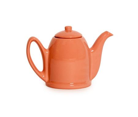 orange teapot isolated on white background Imagens - 41459470