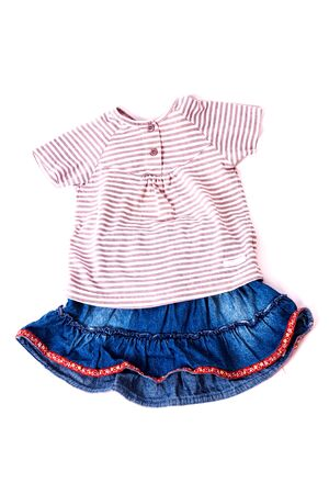 denim skirt: beautiful baby kit, denim skirt with a blouse