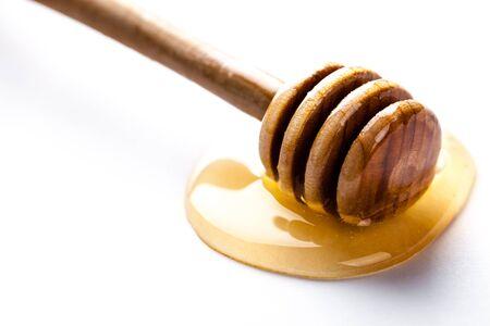 dipper: Honey dipper on white background Stock Photo