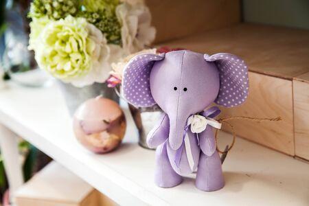 toy elephant: Purple Toy Elephant