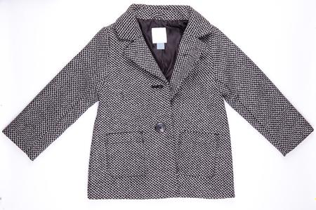 overcoat: Grey wool winter overcoat isolated on white