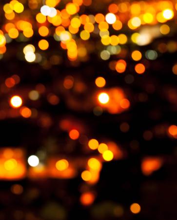 Bokeh of light in a beautiful city. Stock Photo