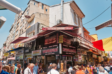 kapalicarsi: ISTANBUL, TURKEY - JULY 28, 2015: Eminonu and Grand Bazaar is popular destination for tourists in Istanbul.