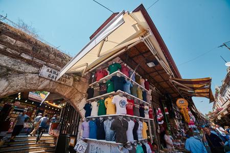 eminonu: ISTANBUL, TURKEY - JULY 28, 2015: Eminonu and Grand Bazaar is popular destination for tourists in Istanbul.