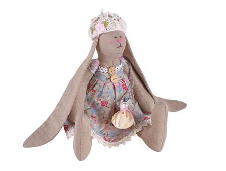Textile handmade doll  Rabbit  photo