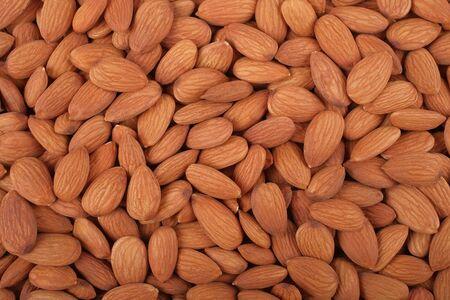 nutty: Nutty background - Almonds Stock Photo