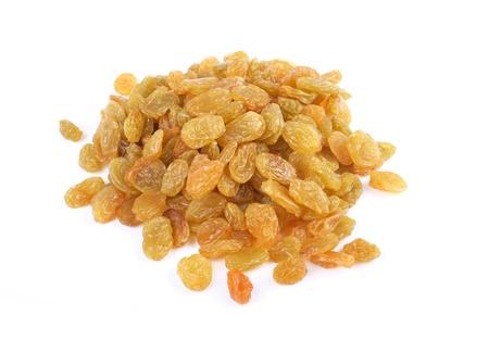 Raisins on the white background Stock Photo