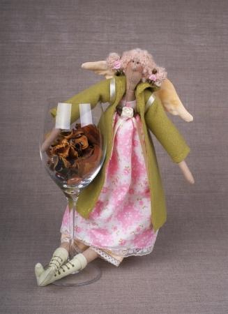 テキスタイル手作りおもちゃ - 天使