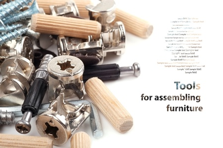 euro screw: Tools for assembling furniture - Background