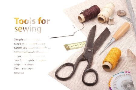 Tools for embroidery - background