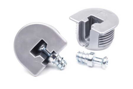 euro screw: Fasteners for furniture on a white background