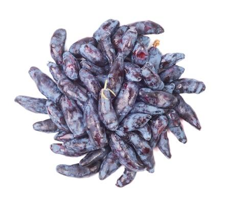 Top view of the honeysuckle berries Stock Photo