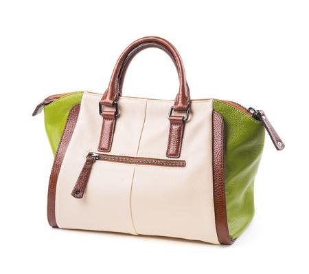 Womens stylish bag on white background