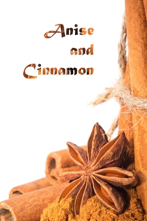 Anise and cinnamon - background