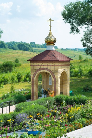 priesthood: The chapel at the source of St. Matrona. Russia. city Livny Stock Photo