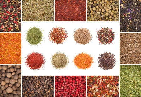 A collection of different spices Stock Photo