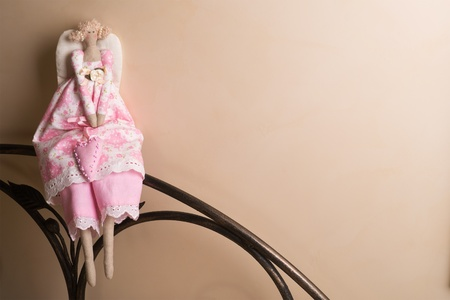 Textile handmade toys - Angel photo