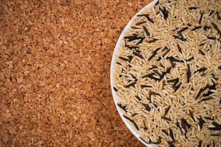 Brown and wild rice photo