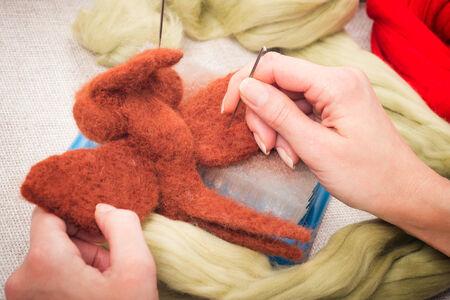Felting wool as a hobby
