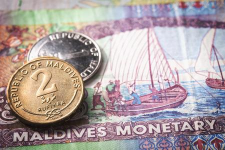 モルディブお金 写真素材