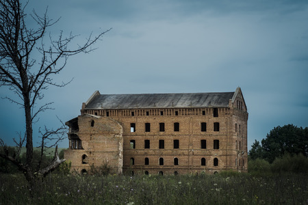 mill valley: Ancient building, Adams Mill. Russia. city Livny Stock Photo