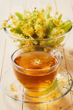 Tea made from linden flowers photo