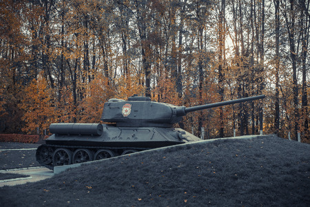 Russian tank of the Second World War Stock Photo