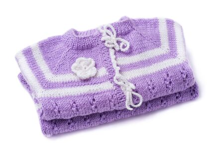 knitted jacket: Knitted jacket for the baby isolated on a white background