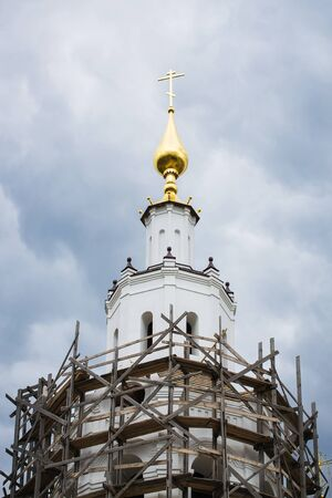 reconstruction: Detail of the upper part of the church is currently under reconstruction