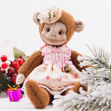 Toy monkey handmade and Christmas gifts