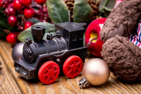 christmas toy: Converted Christmas toy train