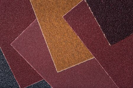 emery paper: The texture of sandpaper with different grits Stock Photo