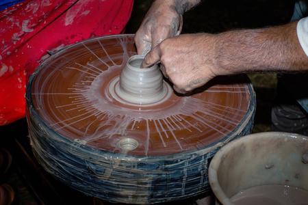 potter: Potter behind work