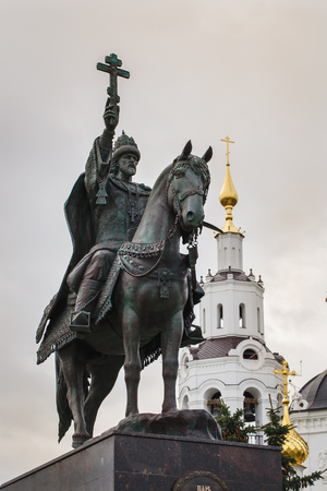 fearsome: ORYOL, RUSSIA - OCTOBER 13, 2016: A monument to Ivan the Terrible, czar of all Russia, has opened in Oryol October 14, 2016. Tsar Ivan IV founded the Oryol in 1566. Author of monument Oleg Molchanov Editorial