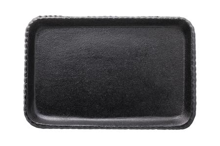 Black cast-iron tray isolated on white background Reklamní fotografie