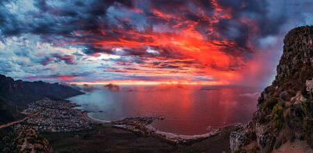 Bright Sunset in Capetown