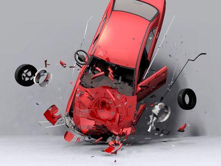 scene fall of the car    Stock Photo