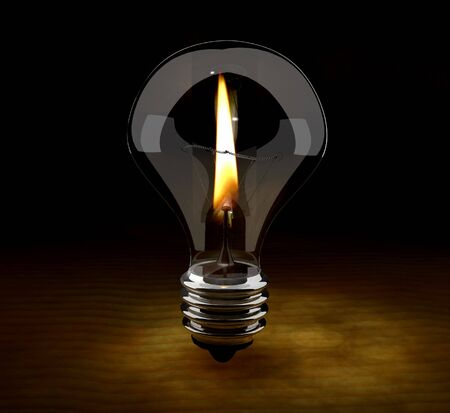 executed: scene flame in lamp executed in 3D