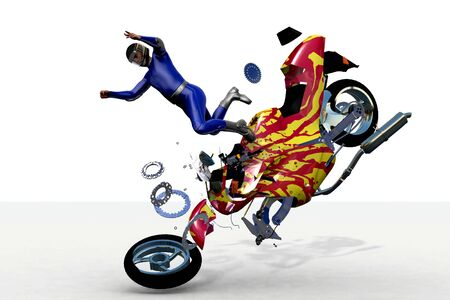 motorcycle accidents: scene to damages of the motorcycle