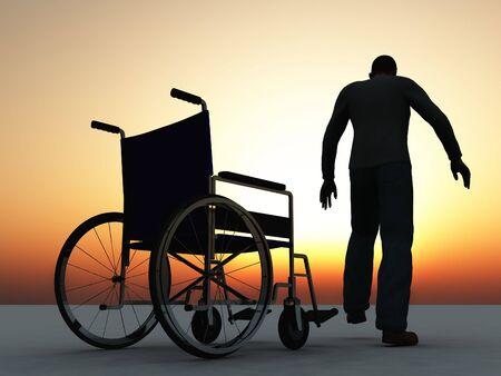 física: escena de la recoverring de la persona de la enfermedad