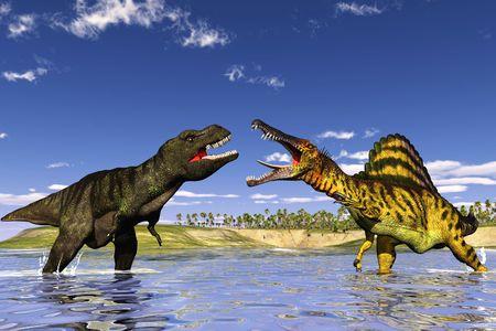dinosauro: scena il dinosauro di caccia